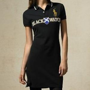 Ralph Lauren Polo Shirt Dress Black Watch Rugby